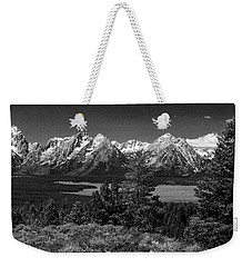 Weekender Tote Bag featuring the photograph Grand Tetons by Dan Wells