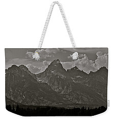 Weekender Tote Bag featuring the photograph Grand Tetons by Eric Tressler
