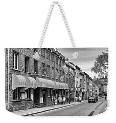 Weekender Tote Bag featuring the photograph Grande Allee by Eunice Gibb