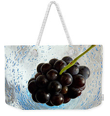 Weekender Tote Bag featuring the photograph Grape Cluster In Biot Glass by Lainie Wrightson