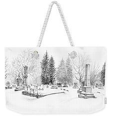 Graveyard In The Snow Weekender Tote Bag