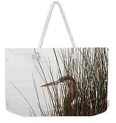 Great Blue Heron Weekender Tote Bag by Kay Lovingood