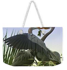 Great Blue Herons Weekender Tote Bag by Myrna Bradshaw