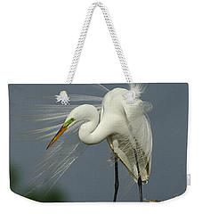 Great Egret Weekender Tote Bag by Bob Christopher