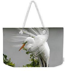 Great Egret Weekender Tote Bag by Doug Lloyd