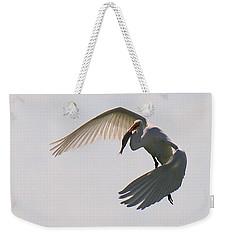 Great Egret Successful Fishing Weekender Tote Bag
