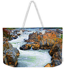 Great Falls On The Potomac River In Virginia Weekender Tote Bag