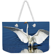 Great White Egret Spreading Its Wings Weekender Tote Bag