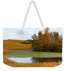 Green And Gold Weekender Tote Bag by Stuart Turnbull