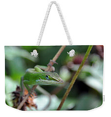 Green Anole Weekender Tote Bag by Kay Lovingood