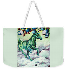 Green Horse Weekender Tote Bag