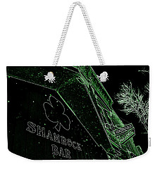 Weekender Tote Bag featuring the photograph Green Night by Zafer Gurel