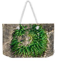 Green Sea Anemone Weekender Tote Bag