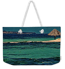 Weekender Tote Bag featuring the photograph Grenadines Umbrella by Don Schwartz