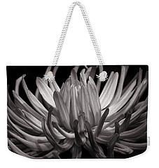 Grey Dahlia Weekender Tote Bag
