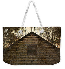 Grungy Hand Hewn Log Chapel Weekender Tote Bag by John Stephens