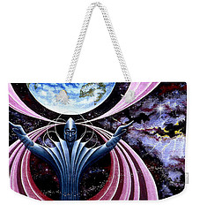 Weekender Tote Bag featuring the painting Guardian Angel by Hartmut Jager