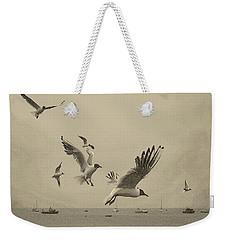 Gulls Weekender Tote Bag by Linsey Williams