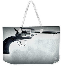 Weekender Tote Bag featuring the photograph Guns And Leather 3 by Deniece Platt