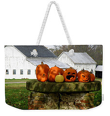 Weekender Tote Bag featuring the photograph Halloween Scene by Lainie Wrightson