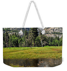 Weekender Tote Bag featuring the photograph Happy Campers by Lynn Bauer