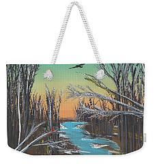 Weekender Tote Bag featuring the painting Happy Day by Alys Caviness-Gober
