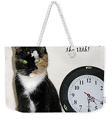 Weekender Tote Bag featuring the photograph Happy Friday The 13th by Ausra Huntington nee Paulauskaite