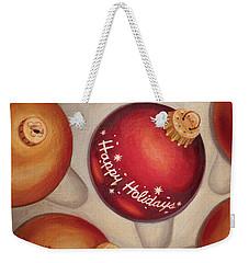 Weekender Tote Bag featuring the painting Happy Holidays by Joe Winkler