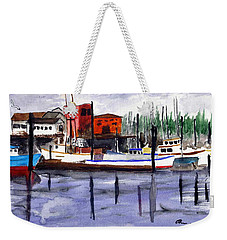 Harbor Fishing Boats Weekender Tote Bag
