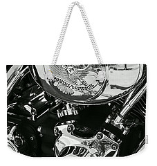 Harley Davidson Bike - Chrome Parts 02 Weekender Tote Bag by Aimelle