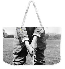 Weekender Tote Bag featuring the photograph Harry Vardon Displays His Overlap Grip by International  Images