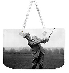 Weekender Tote Bag featuring the photograph Harry Vardon Swinging His Golf Club by International  Images