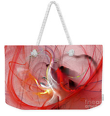 Weekender Tote Bag featuring the digital art Haunted Hearts by Victoria Harrington