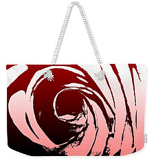Weekender Tote Bag featuring the photograph Heart Of The Rose by Lauren Radke
