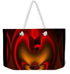 Weekender Tote Bag featuring the digital art Hearts Desire by Vicki Pelham