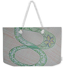 Weekender Tote Bag featuring the painting Helix  by Sonali Gangane