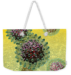 Hepatitis B Virus Particles Weekender Tote Bag