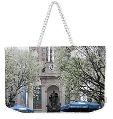 Weekender Tote Bag featuring the photograph Herald Square by Dora Sofia Caputo Photographic Art and Design
