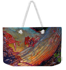 Weekender Tote Bag featuring the digital art Here And Now by Richard Laeton