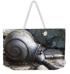 Weekender Tote Bag featuring the photograph Hermit Crab by Chalet Roome-Rigdon