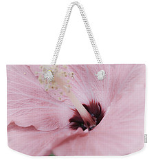 Weekender Tote Bag featuring the photograph Hibiscus Moments by Janie Johnson