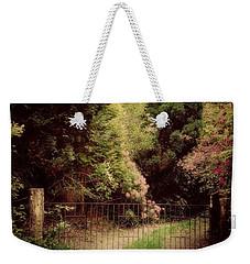 Weekender Tote Bag featuring the photograph Hidden Garden by Marilyn Wilson