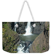 Weekender Tote Bag featuring the photograph High Falls Grand Portage by Bonfire Photography