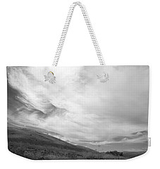 Weekender Tote Bag featuring the photograph Hillside Meets Sky by Kathleen Grace