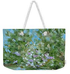 Weekender Tote Bag featuring the painting Hilltop by Judith Rhue