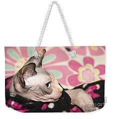 Hippie Cat Weekender Tote Bag