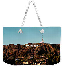 Hollywood Sign At Sunset Weekender Tote Bag