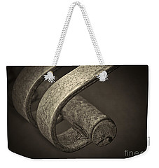 Weekender Tote Bag featuring the photograph Hooked. by Clare Bambers
