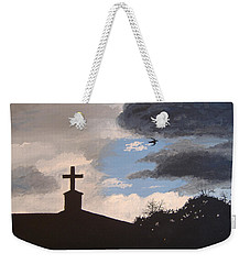 Weekender Tote Bag featuring the painting Hope In The Storm by Norm Starks