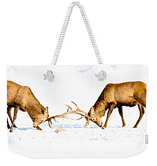 Horns A Plenty Weekender Tote Bag by Cheryl Baxter